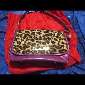 Handbags - Lux de Ville NEW purse leopard and purple